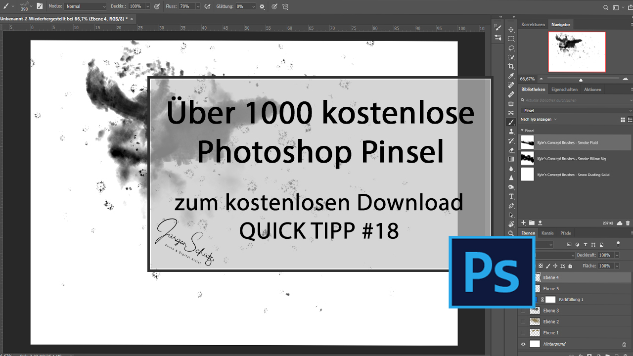 Eintausend kostenlose professionelle Photoshop Pinsel zum Download
